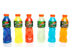 Bottles of energy sport drinks Royalty Free Stock Photography
