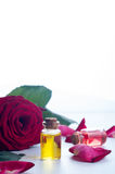 Bottles of Essential Oil for Aromatherapy Stock Photos
