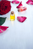 Bottles of Essential Oil for Aromatherapy Stock Images