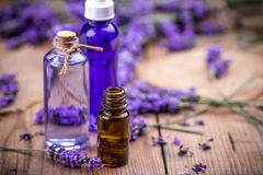 Bottles of essential oil Royalty Free Stock Photography