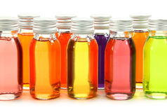 Bottles with essential oils Royalty Free Stock Photography