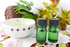Bottles of essential oils Royalty Free Stock Images