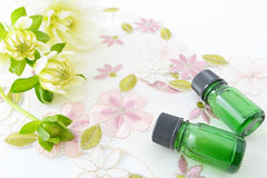 Bottles of essential oils Royalty Free Stock Photo