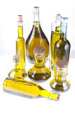 Bottles of extra virgin olive oil Stock Photos