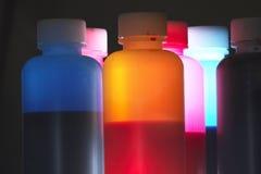 bottles färgrikt Royaltyfria Foton
