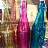 bottles färgrikt Fotografering för Bildbyråer
