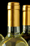 Bottles of fine italian white wine Stock Image
