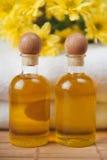 Bottles of Flower Oil Stock Images