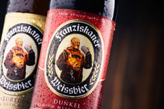 Bottles of Franziskaner Weissbier Royalty Free Stock Photography
