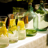 Bottles with fresh lemonade Stock Photography