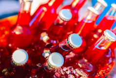 Bottles of fruit juice Royalty Free Stock Photography