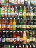Bottles of Fruit Juice Royalty Free Stock Photo