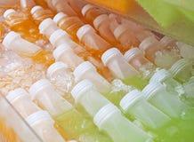 Bottles of Fruit Juices Royalty Free Stock Photo