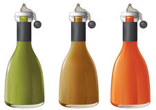 bottles fruktsaft Royaltyfria Bilder