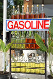 Bottles of gasoline Stock Image