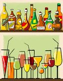 Bottles and glass Stock Image