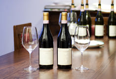 Bottles and glasses Stock Photography