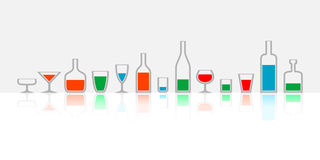 Bottles and glasses Royalty Free Stock Photo