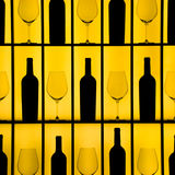 Bottles and glasses Stock Image