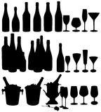 Bottles and glasses. Stock Images