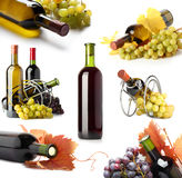 Bottles and grapes Royalty Free Stock Photography