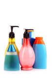 Bottles of health and beauty products Royalty Free Stock Photos