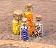 Bottles with herbs used in traditional medicine is not on the wo royalty free stock photos