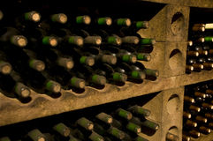Bottles of high quality wine Royalty Free Stock Photo
