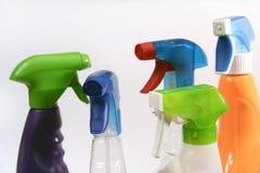 bottles hushållspray Arkivbilder