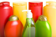 Bottles of Hygienic Products Royalty Free Stock Photos