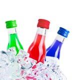 Bottles On Ice Royalty Free Stock Photos