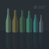 Bottles Icons. Flat Design. vector stock illustration