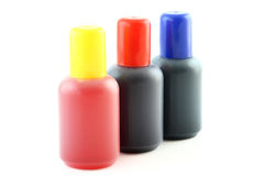 Bottles with ink Royalty Free Stock Images