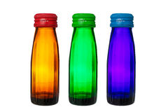 Bottles isolated on white background Stock Photos