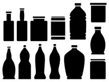 Bottles, jars, and cans Royalty Free Stock Photo