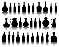 Bottles and jugs Royalty Free Stock Photography