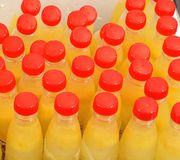 Bottles with Juice Royalty Free Stock Photo