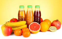 Bottles of juice Royalty Free Stock Photo