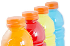 Bottles of juice Stock Photos
