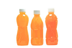 Bottles of juice. On a white background stock photo