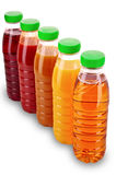 Bottles with juice isolated Royalty Free Stock Image