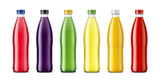 Bottles for juice and other drinks royalty free stock image