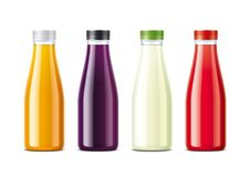 Bottles for juice and soda. royalty free stock photos