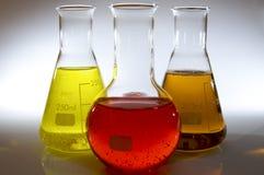 Bottles of laboratory Stock Image