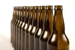 Bottles in line Stock Photography