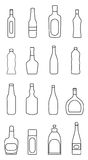 Bottles line icons set Stock Image