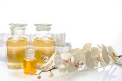 Bottles of liquid soaps Royalty Free Stock Images