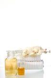 Bottles of liquid soaps Stock Photos