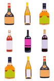 Bottles of liquor Royalty Free Stock Images