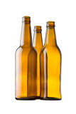 Bottles made of brown glass. Stock Photography